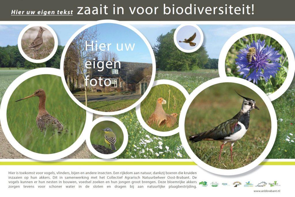 Infopaneel blikvanger agrarisch natuurbeheer